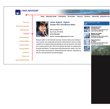 AXA Advisors Multi-Media Websites
